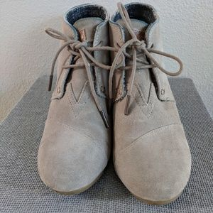 TOMS Taupe Desert Wedges